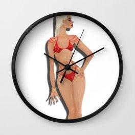 Bikini Model Wall Clock