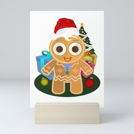 Christmas - Ginger Bread Man Mini Art Print