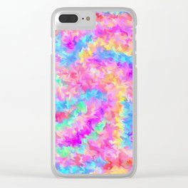 smudged rainbow Clear iPhone Case