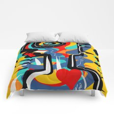Wild Heart Street Art Graffiti Primitive Comforters