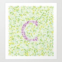 """""""C"""" Eye Test Full Art Print"""
