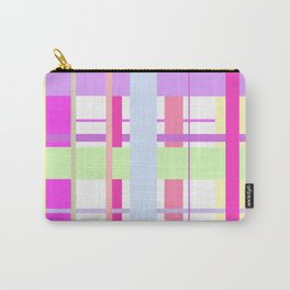Spring Tartan - cool pink pattern Carry-All Pouch