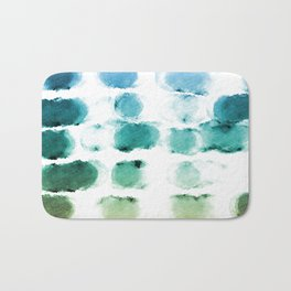 On the Beach Watercolor Painting Abstraction Bath Mat