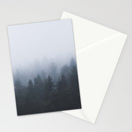 Mysterious forest in the fog Stationery Cards