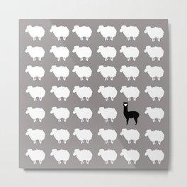 Don't be a sheep, Be a Llama Metal Print