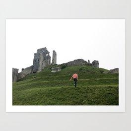Corfe Castle Wanderlust medieval Art Print