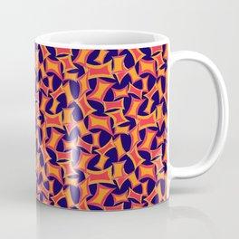 Retro-Inpsired Sugar Packets Geometric Pattern Coffee Mug