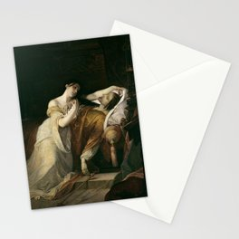 Louis Gallait - Joanna the mad with Philip I the handsome Stationery Cards