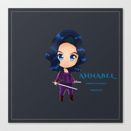 Annabel Chibi Canvas Print