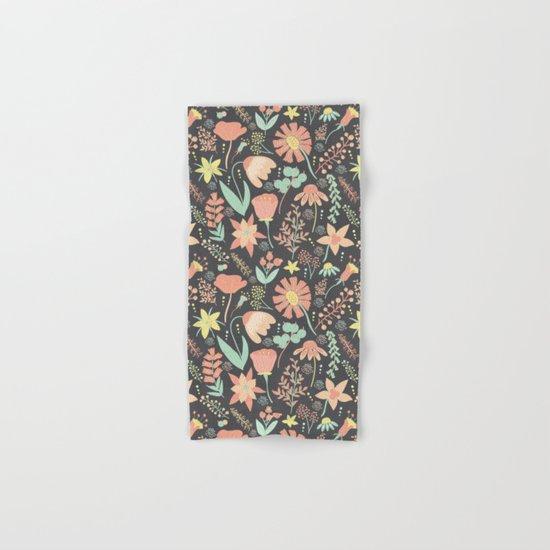 Peachy Keen Wildflowers Hand & Bath Towel