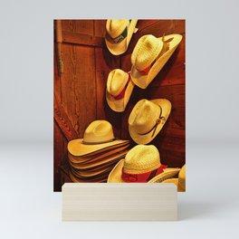 Luckenbach Hats Mini Art Print