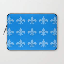 Fleur de lis blue mono chroma Laptop Sleeve