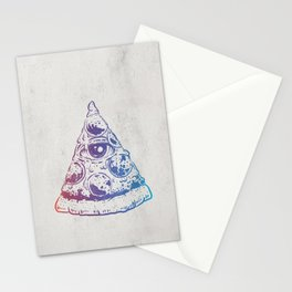 All Seeing Pizza Stationery Cards