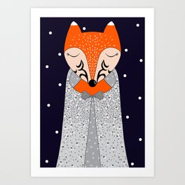 Mrs Pokiha (midnight) Art Print