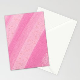 Geometric watercolor pink gold splatters lace Stationery Cards
