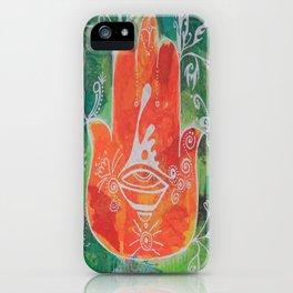 Hamsa Hand in Oranges iPhone Case
