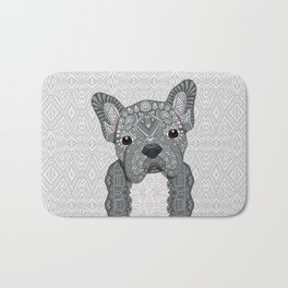 Gray Frenchie 001 Bath Mat