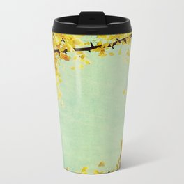 Gingko Branches Metal Travel Mug