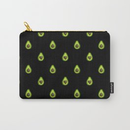 Avocado Hearts (black background) Carry-All Pouch