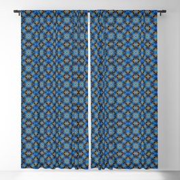 Peacock Feathers -Blue/Gold Blackout Curtain