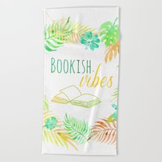 BOOKISH VIBES Beach Towel