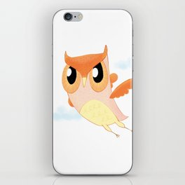 Orange Owl iPhone Skin