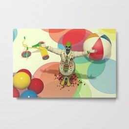 Calamity The Clown - Colorful Scary Clown Artwork Metal Print