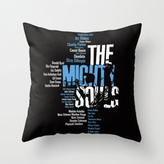 The Mighty Souls: Jazz Legends Throw Pillow