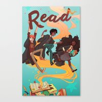 read Canvas Prints featuring Read! by Loquacious Literature