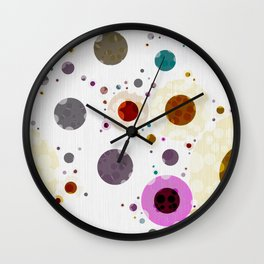Modern Soft palette Dot Pattern Wall Clock