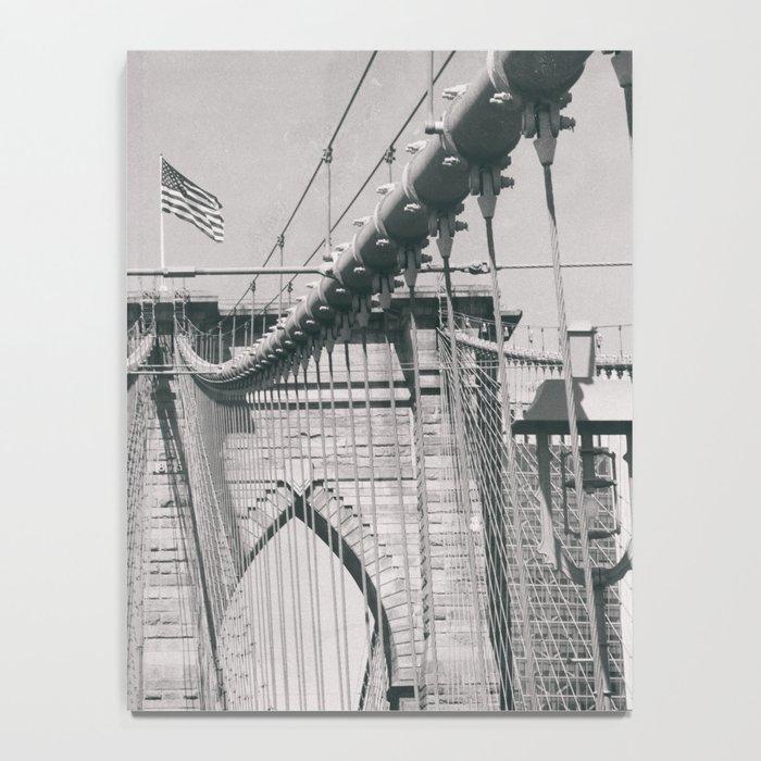 Brooklyn bridge, architecture, vintage photography, new york city, NYC, Manhattan view Notebook