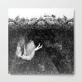 The Stars Beneath the Waves Metal Print