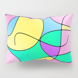 ABSTRACT CURVES #1 (Multicolor Light) Pillow Sham