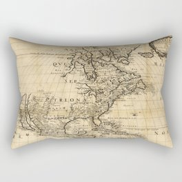 Amerique Septentrionale, Map of North America (1650) Rectangular Pillow