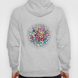 Dots on Painted Background 2 Hoody