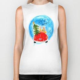 Dashing Through The Snow - Holiday Car Christmas Tree Biker Tank