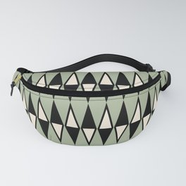Mid Century Modern Diamond Pattern Sage Green 234 Fanny Pack