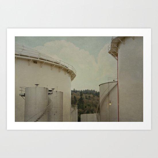 Cylinders Art Print