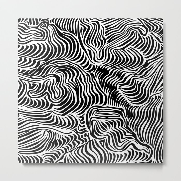black flow Metal Print