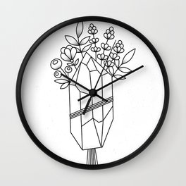 Crystal Flower Bouquet Wall Clock