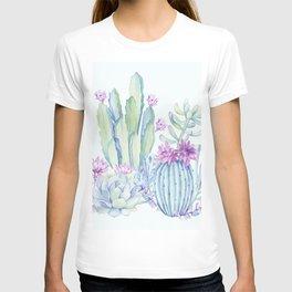 Mixed Cacti Light Blue #society6 #buyart T-shirt