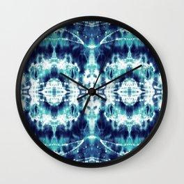 Celestial Nouveau Tie-Dye Wall Clock