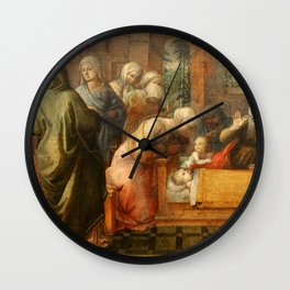 "Fra Filippo Lippi ""Miracle of the Bees of the Infant St. Ambrose"" Wall Clock"