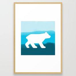 Inverted Blue Bear - Wildlife Series Framed Art Print