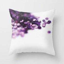 Glitterrr Throw Pillow