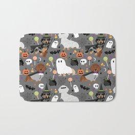 Dachshund dog breed halloween cute pattern doxie dachsie dog costumes Bath Mat