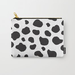Animal Print (Cow Print), Cow Spots - White Black Carry-All Pouch
