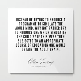 22   | Alan Turing Quotes  | 190716 | Metal Print