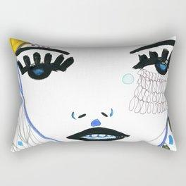 Woman Face Portrait Rectangular Pillow