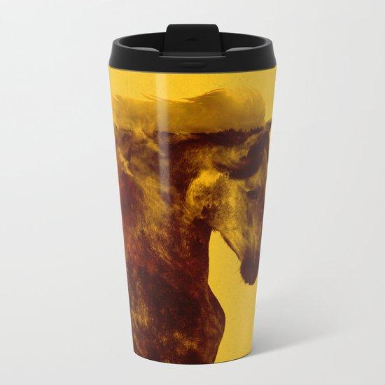 Proud Stallion Metal Travel Mug
